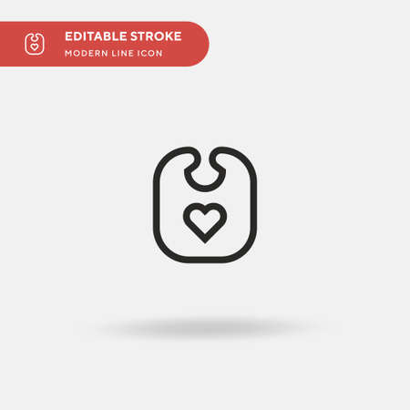 Bib Simple vector icon. Illustration symbol design template for web mobile UI element. Perfect color modern pictogram on editable stroke. Bib icons for your business project