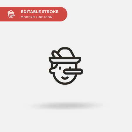 Pinocchio Simple vector icon. Illustration symbol design template for web mobile UI element. Perfect color modern pictogram on editable stroke. Pinocchio icons for your business project