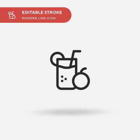 Juice Simple vector icon. Illustration symbol design template for web mobile UI element. Perfect color modern pictogram on editable stroke. Juice icons for your business project