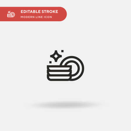 Plates Simple vector icon. Illustration symbol design template for web mobile UI element. Perfect color modern pictogram on editable stroke. Plates icons for your business project