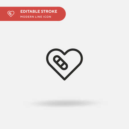 Heal Simple vector icon. Illustration symbol design template for web mobile UI element. Perfect color modern pictogram on editable stroke. Heal icons for your business project