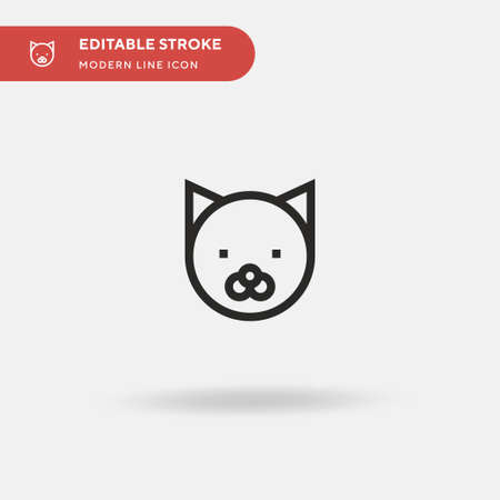 Cat Simple vector icon. Illustration symbol design template for web mobile UI element. Perfect color modern pictogram on editable stroke. Cat icons for your business project Illusztráció