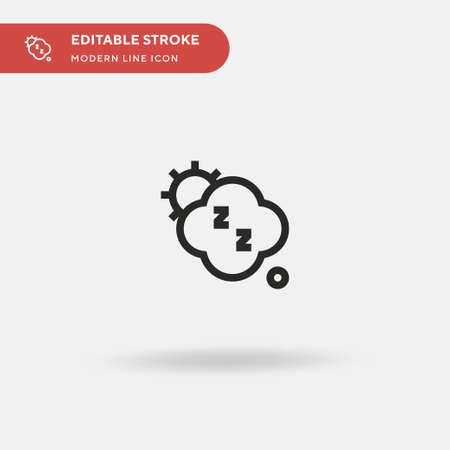 Sleep Simple vector icon. Illustration symbol design template for web mobile UI element. Perfect color modern pictogram on editable stroke. Sleep icons for your business project
