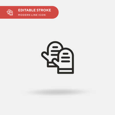 Gloves Simple vector icon. Illustration symbol design template for web mobile UI element. Perfect color modern pictogram on editable stroke. Gloves icons for your business project