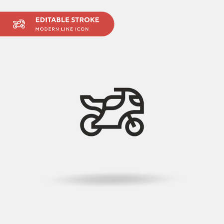 Motorbike Simple vector icon. Illustration symbol design template for web mobile UI element. Perfect color modern pictogram on editable stroke. Motorbike icons for your business project