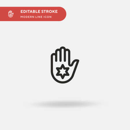 Hand Simple vector icon. Illustration symbol design template for web mobile UI element. Perfect color modern pictogram on editable stroke. Hand icons for your business project