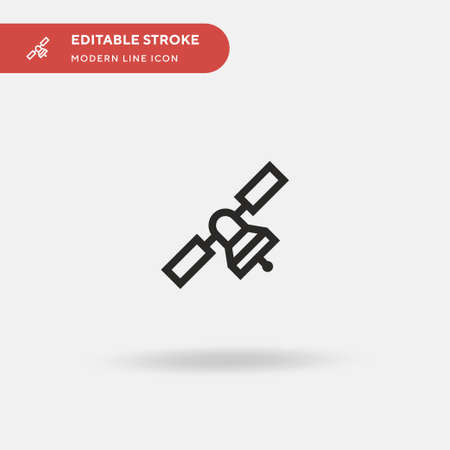 Satellite Simple vector icon. Illustration symbol design template for web mobile UI element. Perfect color modern pictogram on editable stroke. Satellite icons for your business project Reklamní fotografie - 151661163