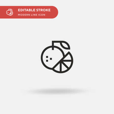 Orange Simple vector icon. Illustration symbol design template for web mobile UI element. Perfect color modern pictogram on editable stroke. Orange icons for your business project Vectores