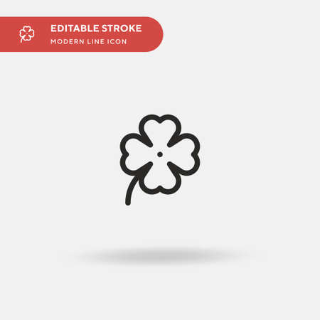 Clover Simple vector icon. Illustration symbol design template for web mobile UI element. Perfect color modern pictogram on editable stroke. Clover icons for your business project
