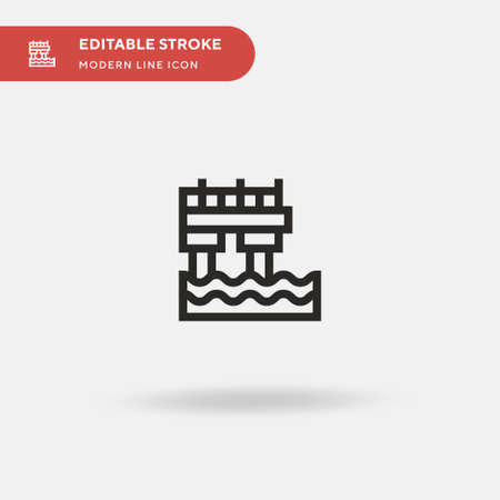 Pier Simple vector icon. Illustration symbol design template for web mobile UI element. Perfect color modern pictogram on editable stroke. Pier icons for your business project
