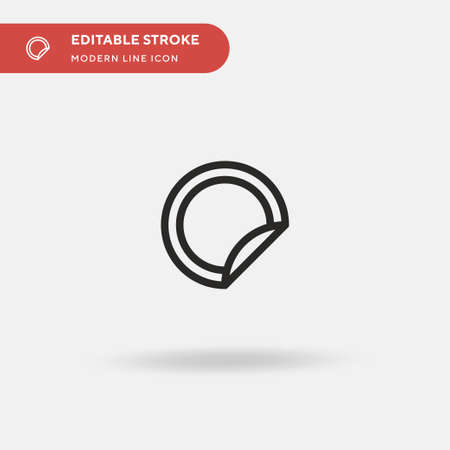 Sticker Simple vector icon. Illustration symbol design template for web mobile UI element. Perfect color modern pictogram on editable stroke. Sticker icons for your business project