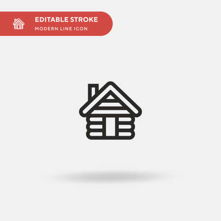Cabin Simple vector icon. Illustration symbol design template for web mobile UI element. Perfect color modern pictogram on editable stroke. Cabin icons for your business project