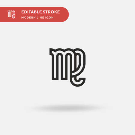 Virgo Simple vector icon. Illustration symbol design template for web mobile UI element. Perfect color modern pictogram on editable stroke. Virgo icons for your business project