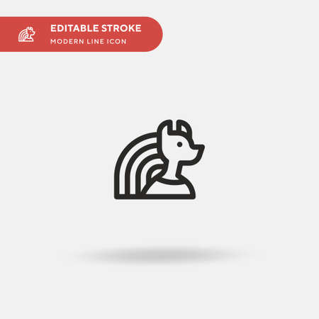 Bastet Simple vector icon. Illustration symbol design template for web mobile UI element. Perfect color modern pictogram on editable stroke. Bastet icons for your business project