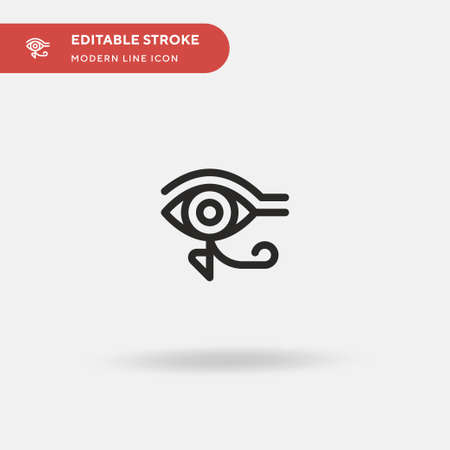 Eye Of Ra Simple vector icon. Illustration symbol design template for web mobile UI element. Perfect color modern pictogram on editable stroke. Eye Of Ra icons for your business project 일러스트