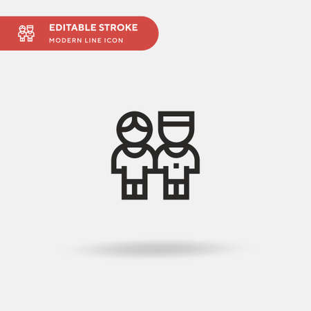Brothers Simple vector icon. Illustration symbol design template for web mobile UI element. Perfect color modern pictogram on editable stroke. Brothers icons for your business project