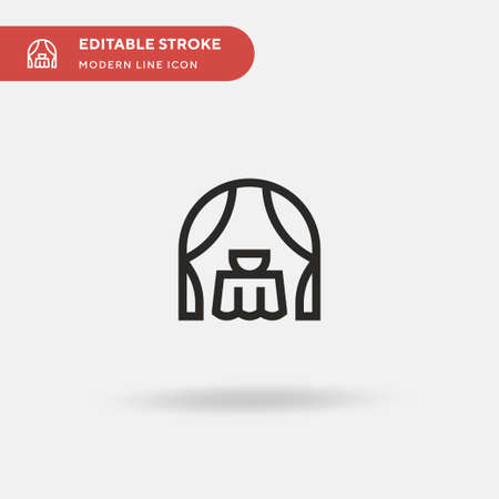 Altar Simple vector icon. Illustration symbol design template for web mobile UI element. Perfect color modern pictogram on editable stroke. Altar icons for your business project