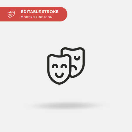 Drama Simple vector icon. Illustration symbol design template for web mobile UI element. Perfect color modern pictogram on editable stroke. Drama icons for your business project 일러스트