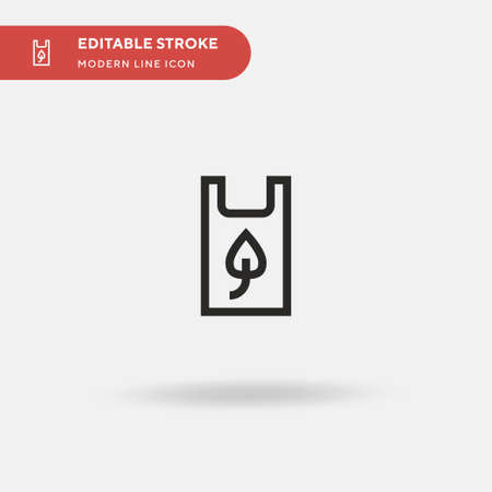 Recycled Plastic Bag Simple vector icon. Illustration symbol design template for web mobile UI element. Perfect color modern pictogram on editable stroke. Recycled Plastic Bag icons for your business project
