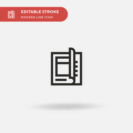 Magazine Simple vector icon. Illustration symbol design template for web mobile UI element. Perfect color modern pictogram on editable stroke. Magazine icons for your business project