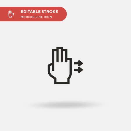 Right Simple vector icon. Illustration symbol design template for web mobile UI element. Perfect color modern pictogram on editable stroke. Right icons for your business project