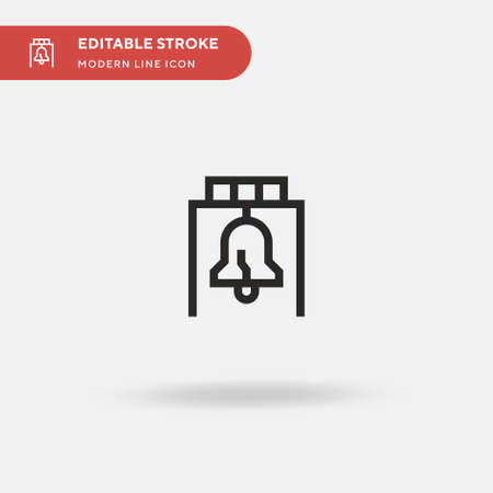 Liberty Bell Simple vector icon. Illustration symbol design template for web mobile UI element. Perfect color modern pictogram on editable stroke. Liberty Bell icons for your business project