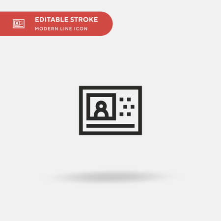 Video Simple vector icon. Illustration symbol design template for web mobile UI element. Perfect color modern pictogram on editable stroke. Video icons for your business project