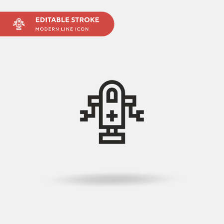 Medical Robot Simple vector icon. Illustration symbol design template for web mobile UI element. Perfect color modern pictogram on editable stroke. Medical Robot icons for your business project