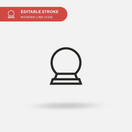Crystal Ball Simple vector icon. Illustration symbol design template for web mobile UI element. Perfect color modern pictogram on editable stroke. Crystal Ball icons for your business project 矢量图像