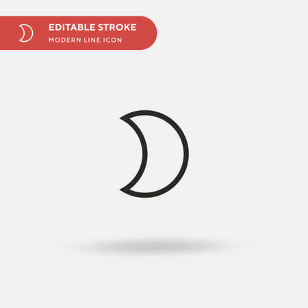 Half Moon Simple vector icon. Illustration symbol design template for web mobile UI element. Perfect color modern pictogram on editable stroke. Half Moon icons for your business project