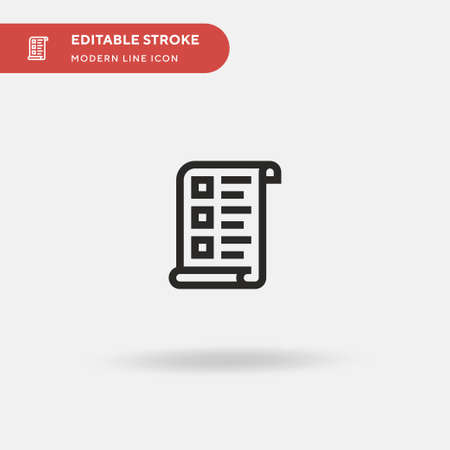 Survey Simple vector icon. Illustration symbol design template for web mobile UI element. Perfect color modern pictogram on editable stroke. Survey icons for your business project Stock Illustratie
