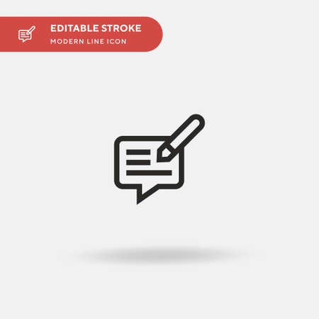 Feedback Simple vector icon. Illustration symbol design template for web mobile UI element. Perfect color modern pictogram on editable stroke. Feedback icons for your business project