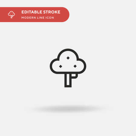Tree Simple vector icon. Illustration symbol design template for web mobile UI element. Perfect color modern pictogram on editable stroke. Tree icons for your business project