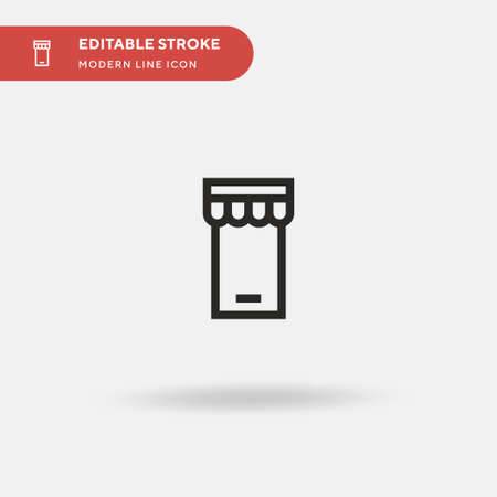 Online Shop Simple vector icon. Illustration symbol design template for web mobile UI element. Perfect color modern pictogram on editable stroke. Online Shop icons for your business project