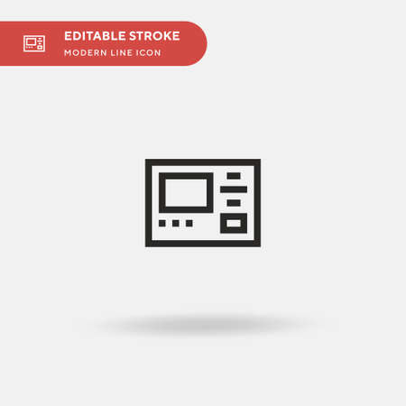 Screen Simple vector icon. Illustration symbol design template for web mobile UI element. Perfect color modern pictogram on editable stroke. Screen icons for your business project