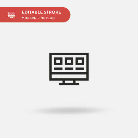 Computer Simple vector icon. Illustration symbol design template for web mobile UI element. Perfect color modern pictogram on editable stroke. Computer icons for your business project