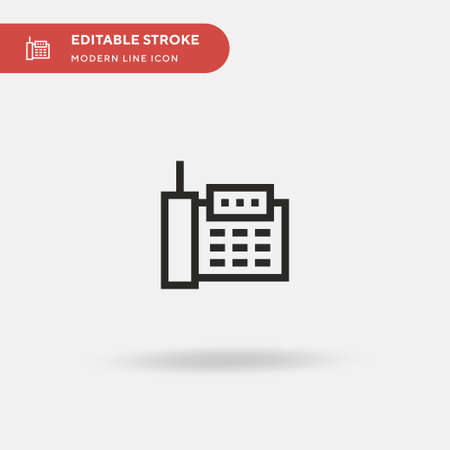 Telephone Simple vector icon. Illustration symbol design template for web mobile UI element. Perfect color modern pictogram on editable stroke. Telephone icons for your business project