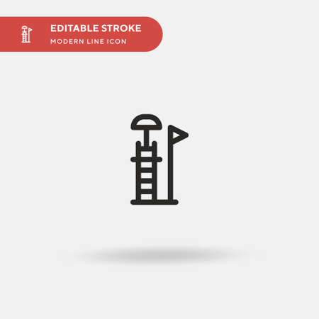 Life Guard Simple vector icon. Illustration symbol design template for web mobile UI element. Perfect color modern pictogram on editable stroke. Life Guard icons for your business project Stock Illustratie