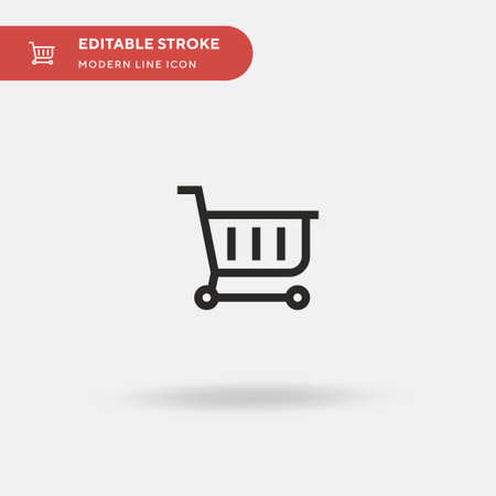 Online Store Simple vector icon. Illustration symbol design template for web mobile UI element. Perfect color modern pictogram on editable stroke. Online Store icons for your business project