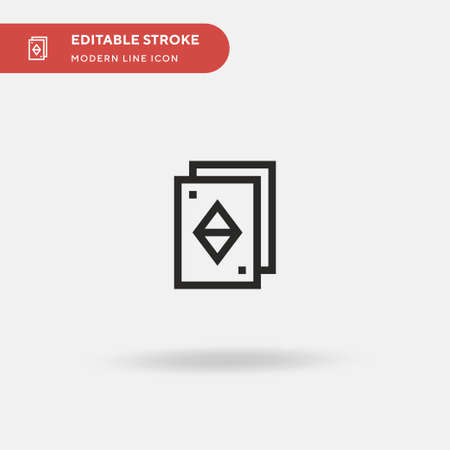 Card Game Simple vector icon. Illustration symbol design template for web mobile UI element. Perfect color modern pictogram on editable stroke. Card Game icons for your business project Illustration