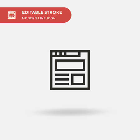 Landing Page Simple vector icon. Illustration symbol design template for web mobile UI element. Perfect color modern pictogram on editable stroke. Landing Page icons for your business project Stock Illustratie