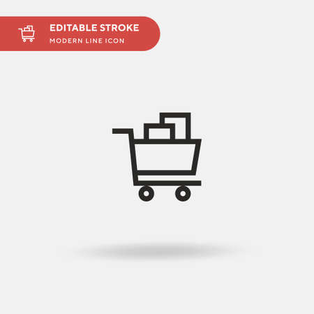 Ecommerce Simple vector icon. Illustration symbol design template for web mobile UI element. Perfect color modern pictogram on editable stroke. Ecommerce icons for your business project Çizim