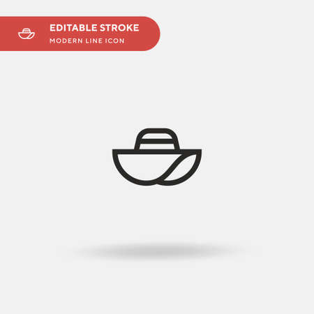 hat Simple vector icon. Illustration symbol design template for web mobile UI element. Perfect color modern pictogram on editable stroke. hat icons for your business project Çizim