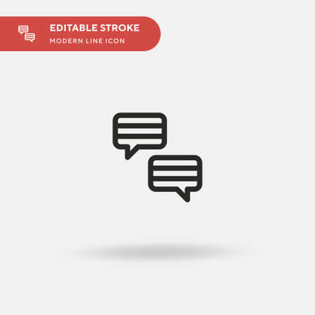 Language Simple vector icon. Illustration symbol design template for web mobile UI element. Perfect color modern pictogram on editable stroke. Language icons for your business project