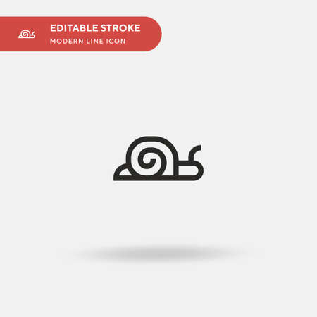 Snail Simple vector icon. Illustration symbol design template for web mobile UI element. Perfect color modern pictogram on editable stroke. Snail icons for your business project
