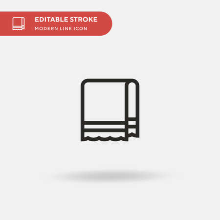 Towel Simple vector icon. Illustration symbol design template for web mobile UI element. Perfect color modern pictogram on editable stroke. Towel icons for your business project