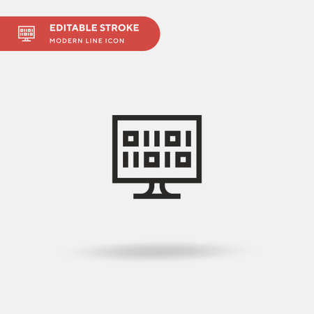Malicious Simple vector icon. Illustration symbol design template for web mobile UI element. Perfect color modern pictogram on editable stroke. Malicious icons for your business project