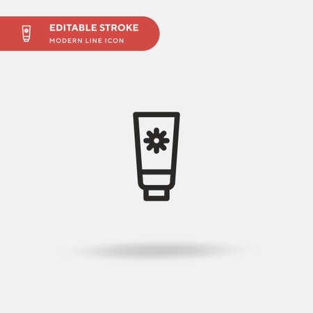 Sunblock Simple vector icon. Illustration symbol design template for web mobile UI element. Perfect color modern pictogram on editable stroke. Sunblock icons for your business project