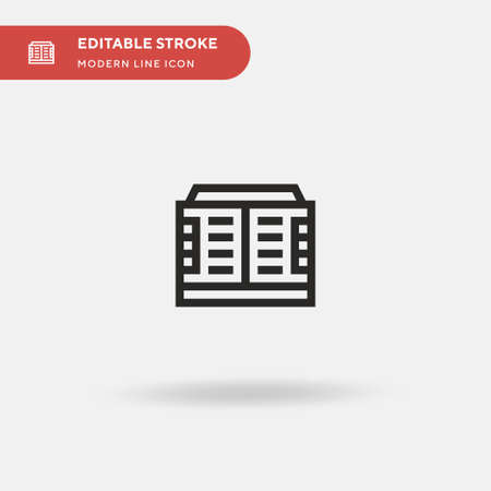 Condenser Simple vector icon. Illustration symbol design template for web mobile UI element. Perfect color modern pictogram on editable stroke. Condenser icons for your business project
