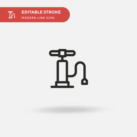 Air Pump Simple vector icon. Illustration symbol design template for web mobile UI element. Perfect color modern pictogram on editable stroke. Air Pump icons for your business project